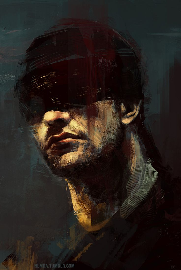 "nlmda: ""So yeah, I think I've joined the Daredevil madness. Matt Murdock is a precious duckling with cute socks. It was like super tricky to paint him right, with only his mouth and neckbeard jawline..."