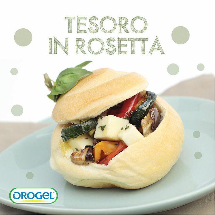 Rosetta ripiena con #verdure grigliate e mozzarella a tocchetti