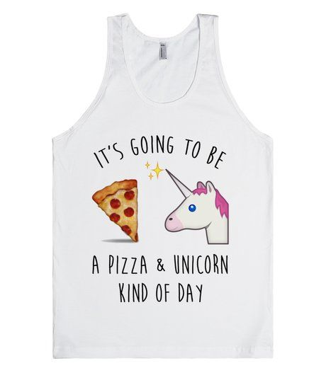 Pizza & Unicorn. Some days are for nothing but pizza and unicorns. #Emoji