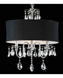 Black Drum Shade Chandelier....Overstock.com 10% off and free shipping....$99
