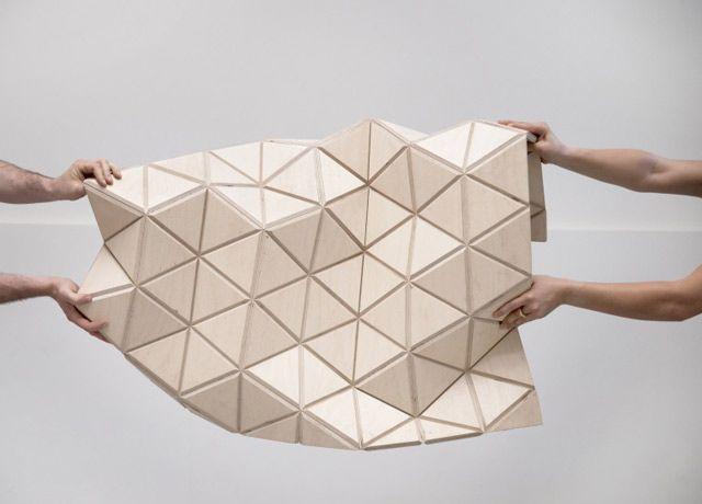 Malha de madeira flexível