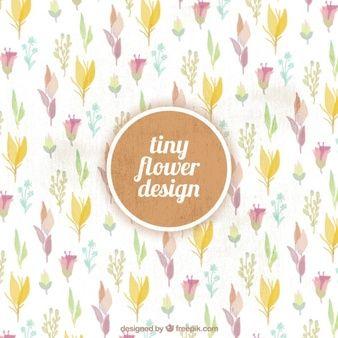 Фон из красивых цветов акварель