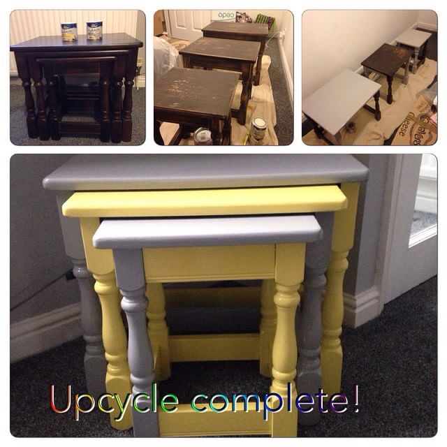 My first upcycle project! A nest of tables now suited to our lounge. Using Dulux Made By Me paint.