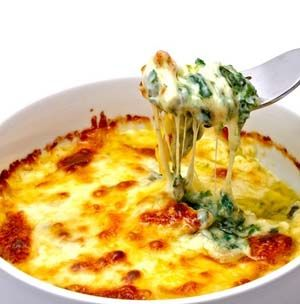Baked Spinach and Cheese Casserole or Dip