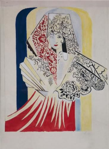 Natalia Goncharova , Project poster for the ballet by Manuel de Falla, El amor brujo