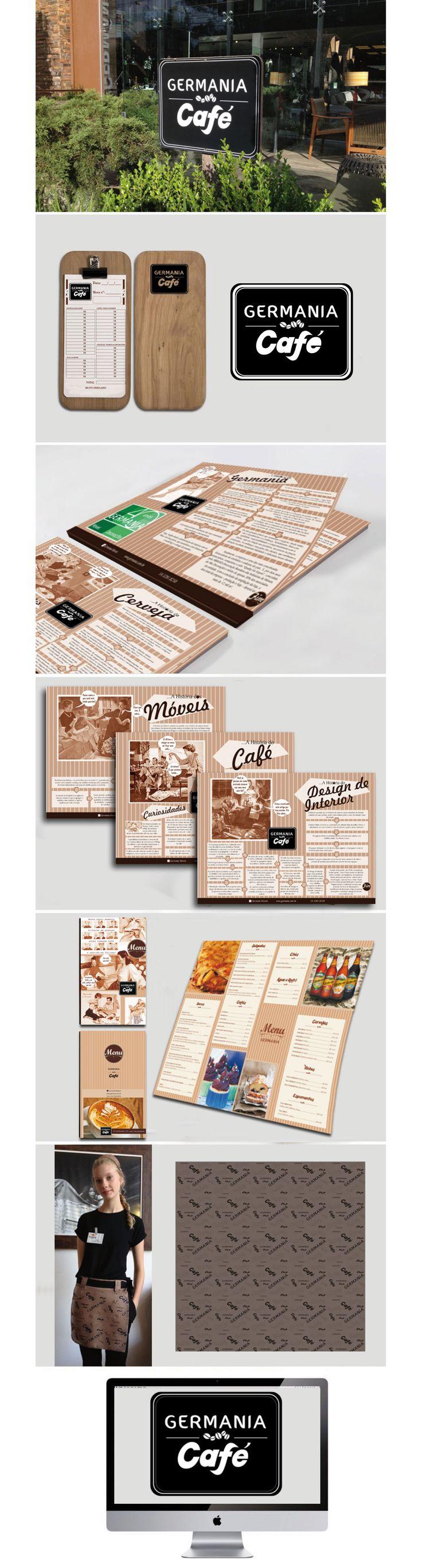 Identidade visual, Café Germania.  Design: Paulo Cesar Soares - P&L Criações.