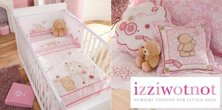 PINK COLOUR GIRLS NURSERY COT BED CRIB BEDDING RANGE IZZIWOTONOT FOREVER FRIENDS