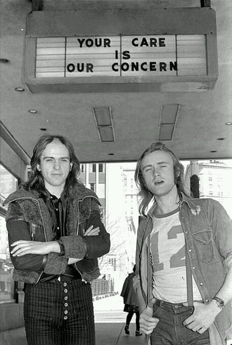 Phil Collins and Peter Gabriel, 1970s