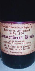 Scarenbecca Kriek, an amazing beer to usher in my 26th year