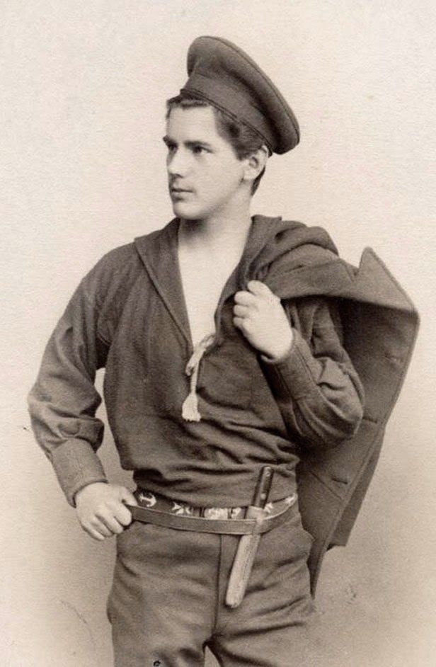 "vintagehandsomemen: "" Handsome sailor from long ago…… Early 1900s.. """