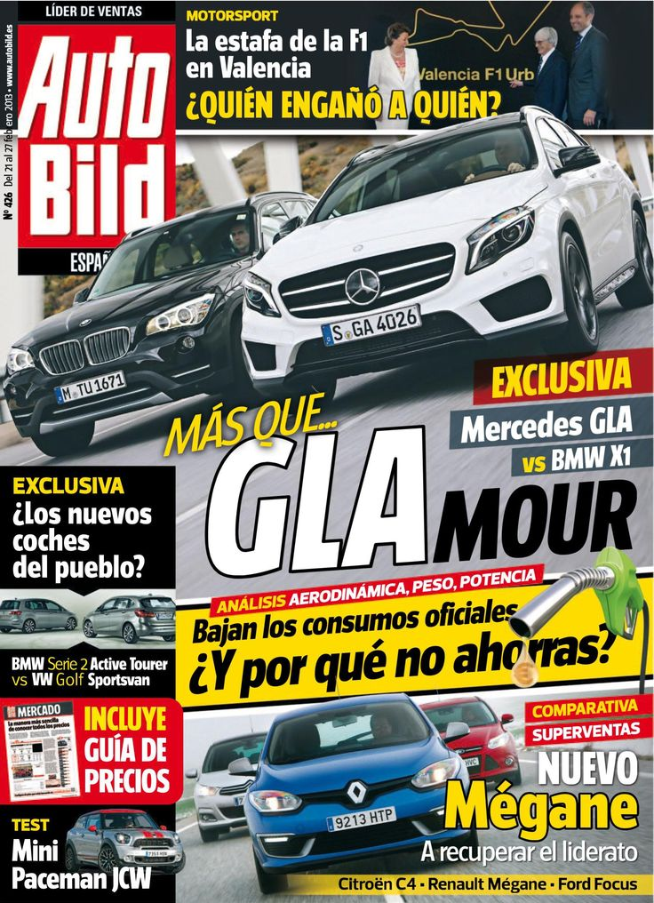 Revista #Autobild España 426. La estafa de la #Fórmula1 en Valencia. Nuevo #Mégane.