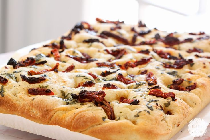 A Year of Yeast: Sun-Dried Tomato Focaccia - Inspired by CharmInspired by Charm
