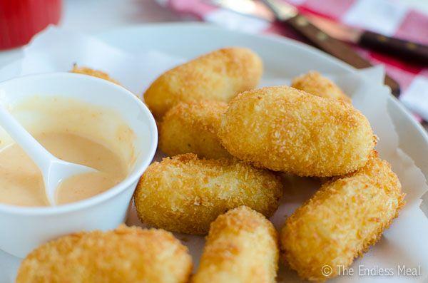 Potato Croquettes with Sweet Sriracha Mayo