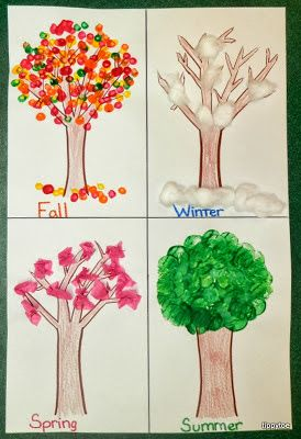 We discussed the four seasons this week and did a little project every day to go along with each season....