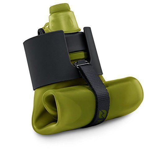 Nomader BPA Free Collapsible Sports Water Bottle - Foldab