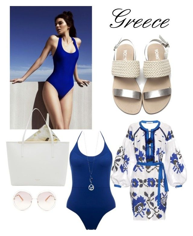 """Greece"" by raffaellapapami on Polyvore featuring Bower, Elements, Vita Kin, Ted Baker and Chloé"