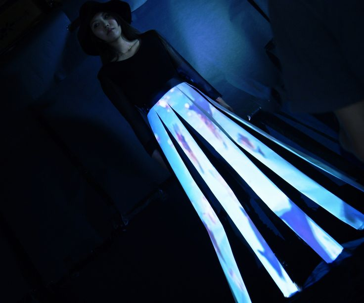"""<Fashion & Technology> This shot is from a music video """" Dystopia"""" by the noise band """"ZZZ's"""" This costume is created by 3D projection mapping technology.  I did Art Direction and 3D projection mapping for this music video. check out the video on youtube!!! https://www.youtube.com/watch?v=cdxM_q9ryRw"""