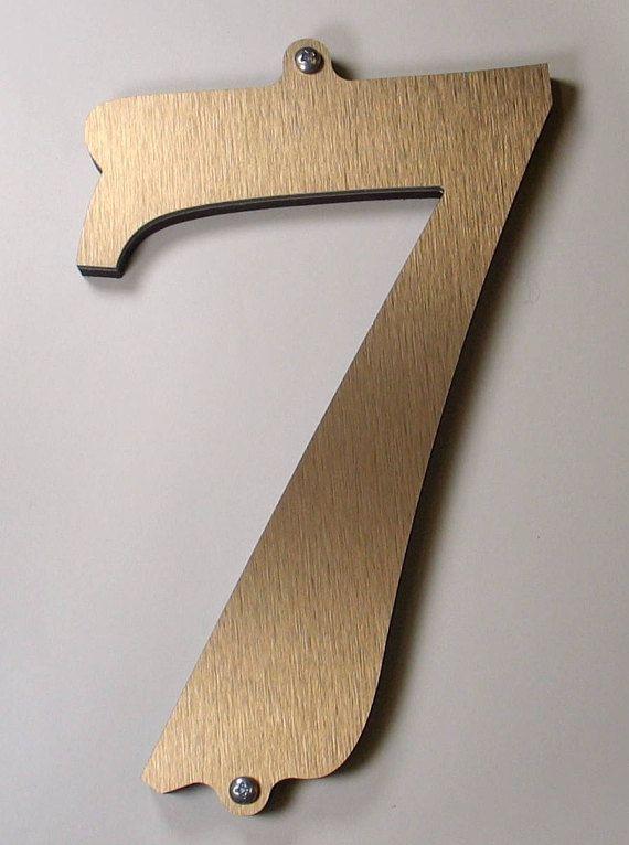 Modern house numbers metal