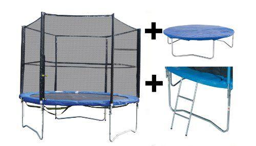 ✔️Vortigern 10ft Trampoline + Safety Net Enclosure + Ladder & Cover 10' £130