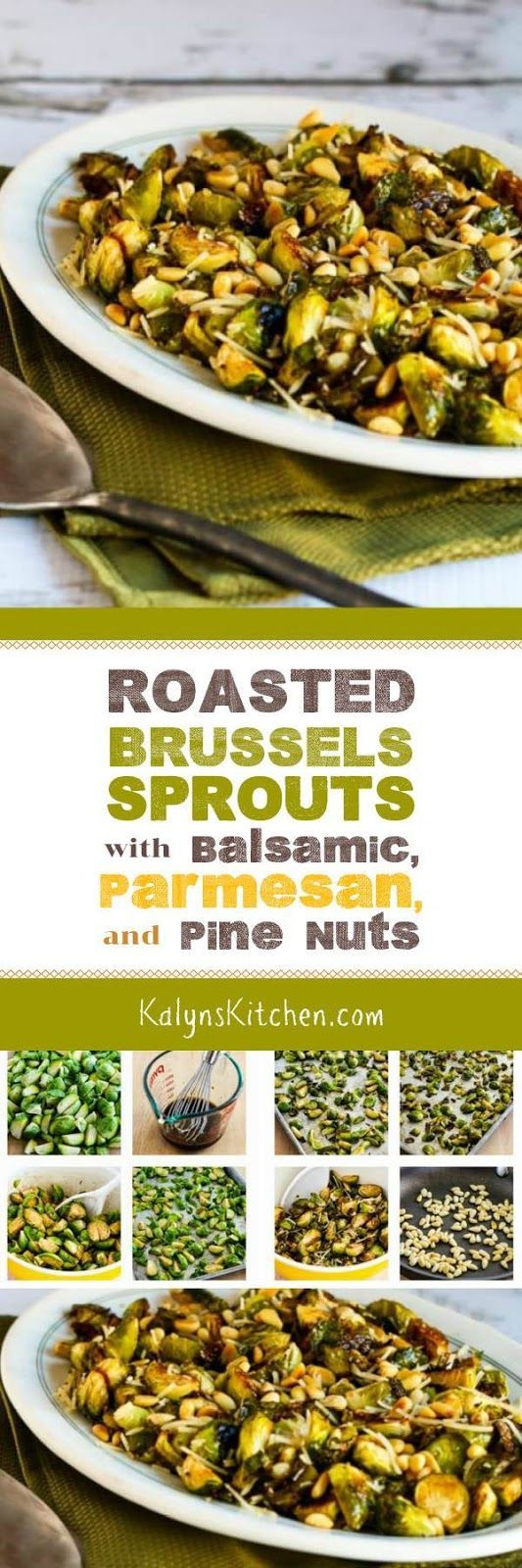 Roasted Brussels Sprouts with Balsamic, Parmesan, and Pine Nuts