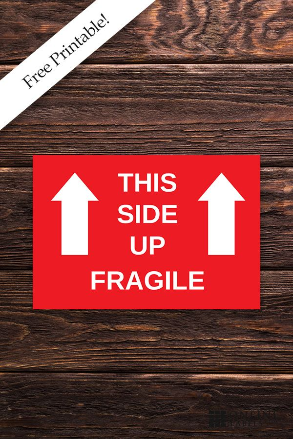 Free Fragile This Side Up Shipping Label Template Printing Labels Fragile Label Custom Printed Labels