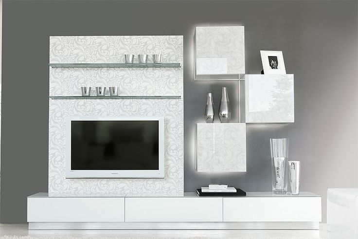 Furniture Mind   Contemporary Furniture | Modern Furniture   High Gloss  White And Floral Print Unico Living Room Storage Solution | Pinterest | Living  Room ... Part 24