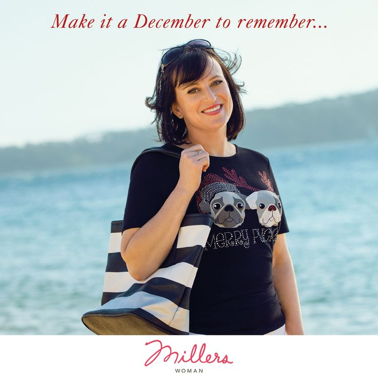 Christmas time is nearly upon us! Celebrate at Millers! Jen our Millers customer sports a bling tee!