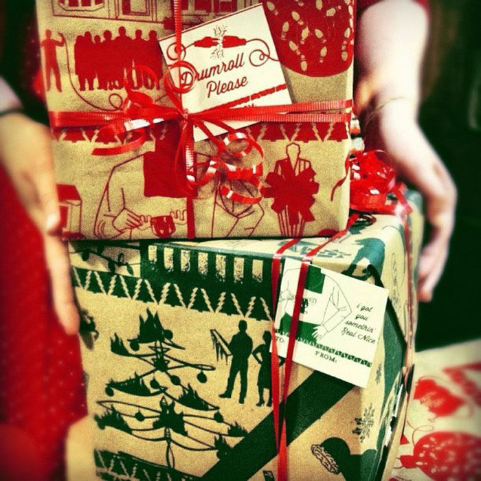 Hand illustrated wrapping paper!