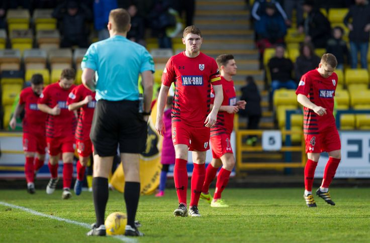 Queen's Park's Ryasm McGeever goes to the centre spot before the Ladbrokes League One game between Livingston and Queen's Park.