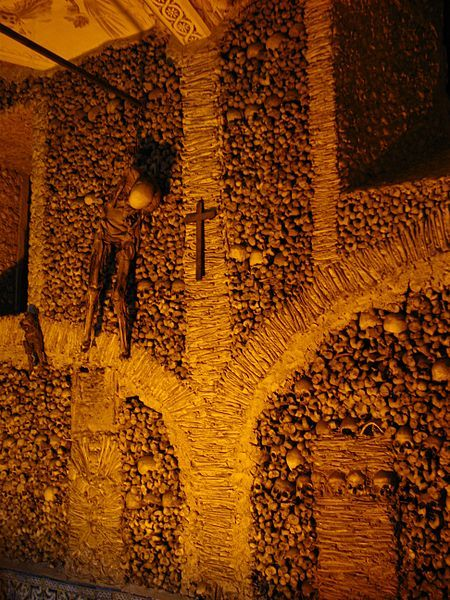 In Evora, Portugal exists the Chapel of Bones (or Capela dos Ossos). The Chapel of Bones is located next to the entrance of the Church of St. Francis. amandaheadlee.com