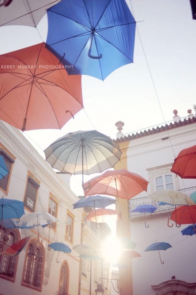 Umbrella installation in Évora, Portugal #installation #art