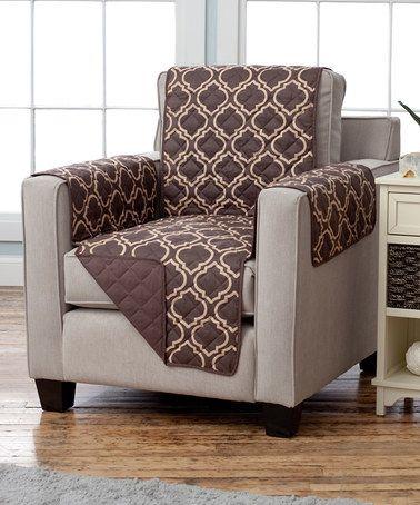 Look at this #zulilyfind! Chocolate Reversible Chair Furniture Protector #zulilyfinds