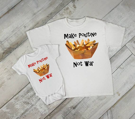 Check out this item in my Etsy shop https://www.etsy.com/ca/listing/533638676/canadian-onesie-poutine-onesie-canada