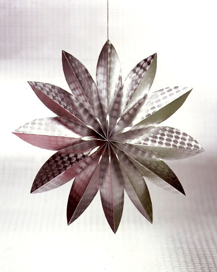 Handmade paper stars add a festive touch, whether you're adorning a holiday mantel or decorating for a birthday party.