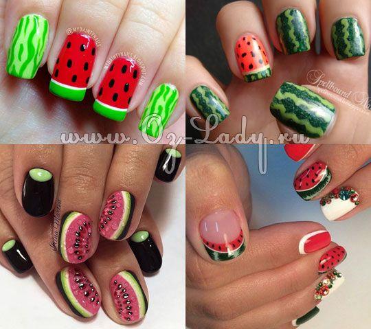 Фруктовый маникюр. Дизайн ногтей с фруктами