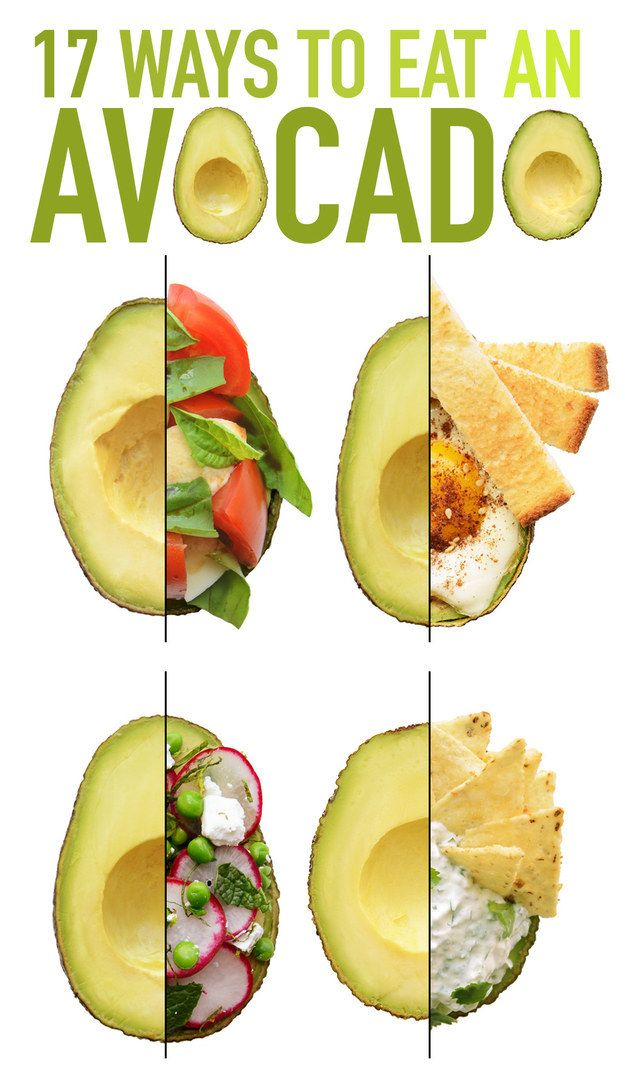 Different ways to eat an avocado.