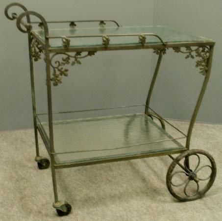 Woodard Wrought Iron Teacart Tea Serving Carts