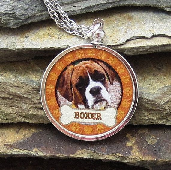 Boxer Dog Coin Pendant Necklace for Dogs Best Friend, JFK Half Dollar Jewelry, Donate to K9 Stray Rescue League, Boxer Dog  Jewelry