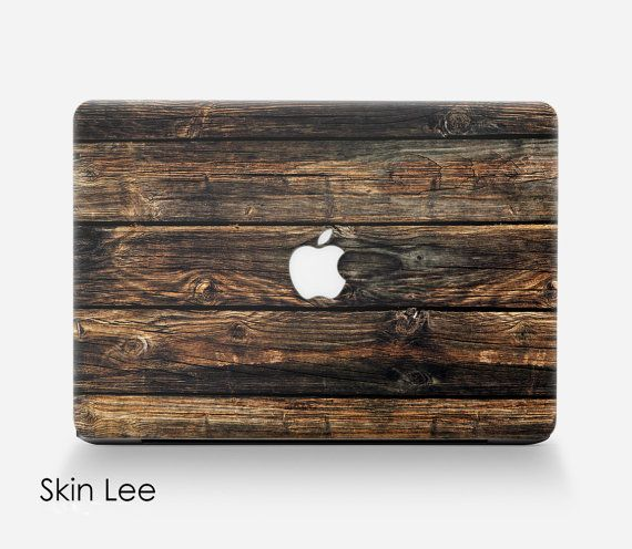 WOOD MAC Decal Mac Sticker Mac Book Pro Case Mac Book by SkinLee