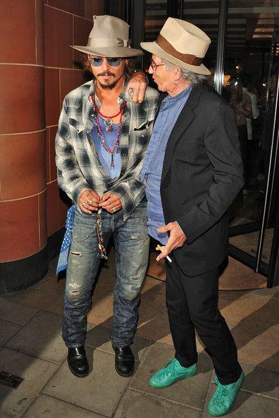 Johnny Depp and Keith Richards Photo - Johnny Depp and Keith Richards Leave C London Restaurant