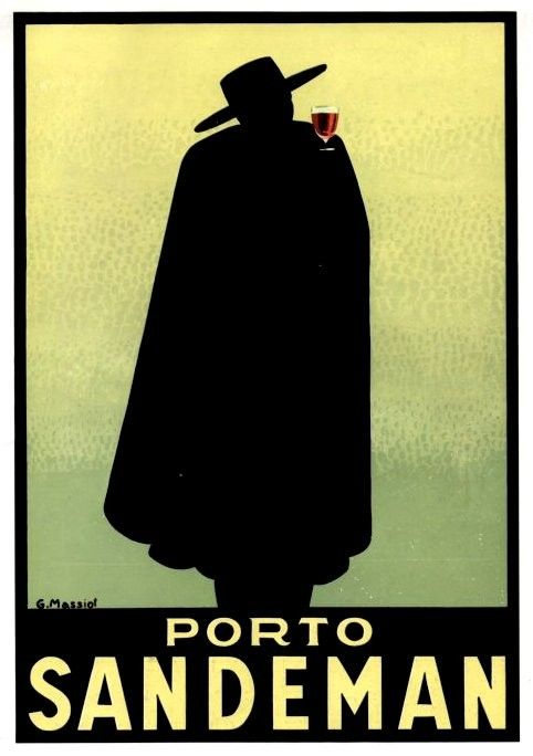 GREAT ART DECO PORTO SANDEMAN ADVERT - 1935 by G.Massiot