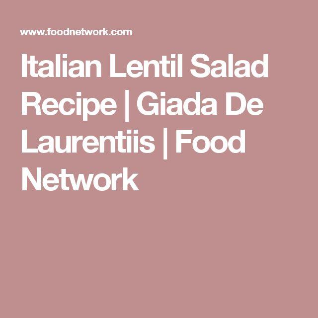 Italian Lentil Salad Recipe | Giada De Laurentiis | Food Network