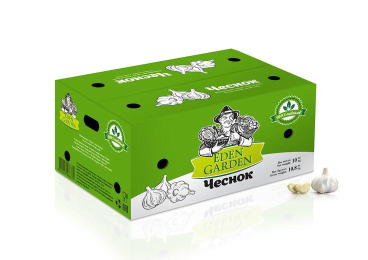 Дизайн короба чеснок для Eden Garden. Box's Design garlic for Eden Garden