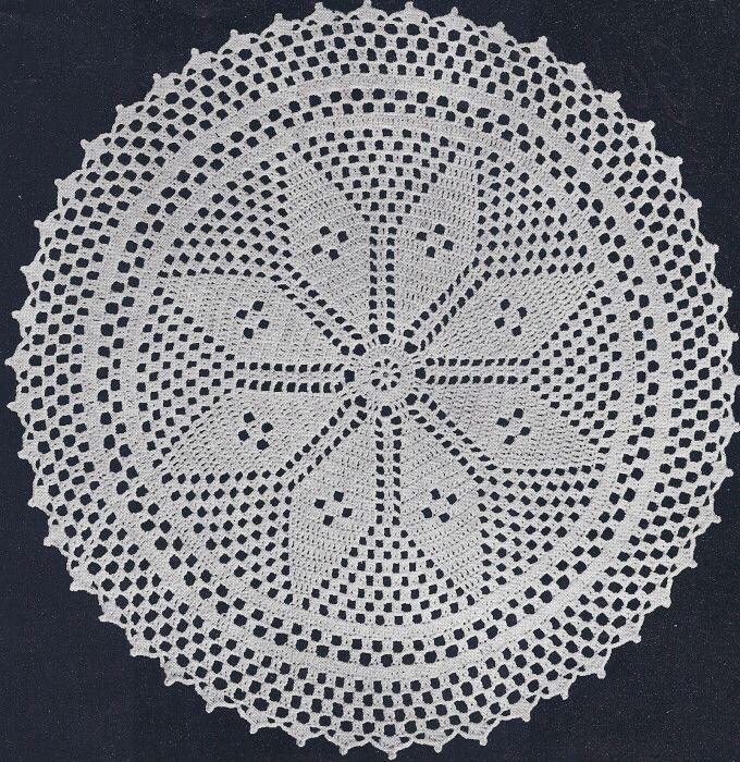 Free Filet Crochet Doily Patterns