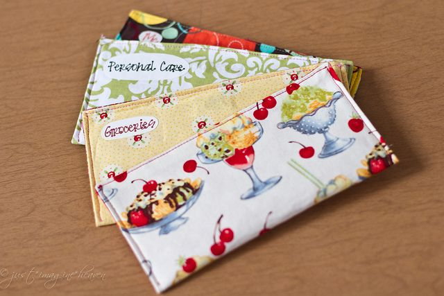 Fabric envelope system pattern.  Easy and cute!  from Just Imagine Heaven blog.