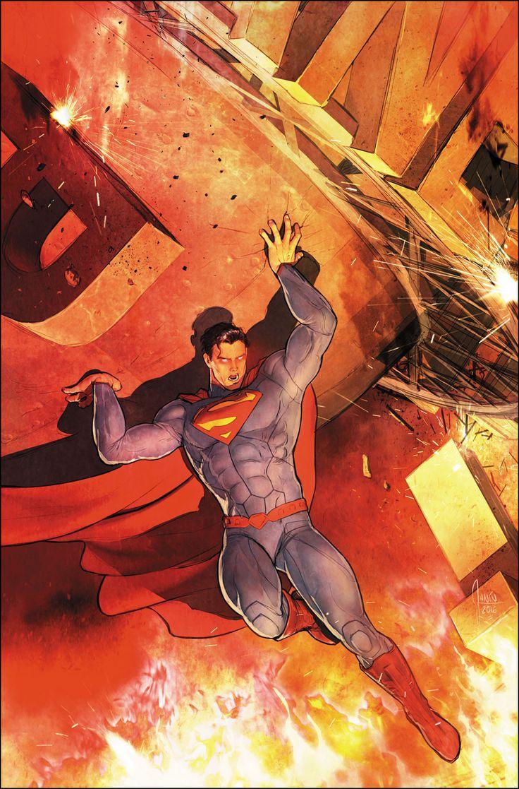 "#Superman #Fan #Art. Superman. The Final Days of Superman, Part 8. ""Do or Die"" Vol.3#52 Cover) By: Mikel Janín. ÅWESOMENESS!!!™ ÅÅÅ+"