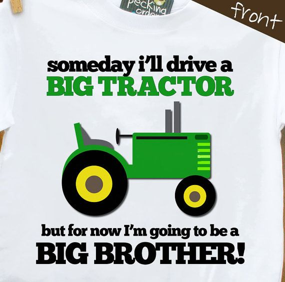 big brother shirt tractor  perfect pregnancy announcement for the big brother to be on Etsy, $18.50