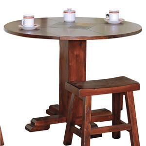 Slate Top Dining Table | Sunny Designs Santa Fe Traditional Round Dining Table with Slate Tile ...