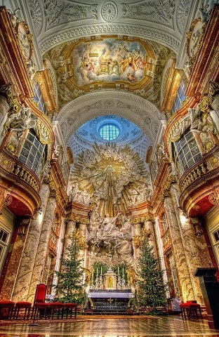 Karlskirche church, Vienna, Austria