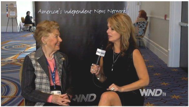 "NATIONAL HARBOR, Md. – The ""Queen of Conservatism"" is deeply concerned about the damage President Obama has caused, but she told WND how she believes the country can be saved.  WND's Dr. Gina Loudon spoke with Phyllis Schlafly at CPAC, the annual gathering of conservatives just outside Washington, D.C.  Read more at http://www.wnd.com/2014/03/phyllis-schlafly-how-to-save-america/#BSlV3HBIaxzWw3AS.99: The Queen"